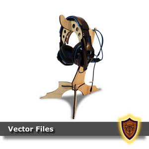 Laser cut Headphone Stand (vector file) digital download