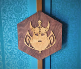 Wooden Fantasy Wall Art - Viking - Dwarf - Fiction - Geeky Decor - Man Cave