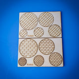 Laser Cut - Miniature Bases 25mm, 32mm, 40mm, 50mm, and 60mm (Digital Download)