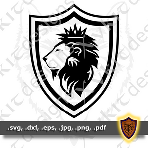 Lion King Shield Silhouette - Board Game - Tabletop - T-shirt SVG design (Digital Download)