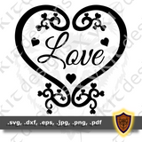 Love SVG - Silhouette - Scrapbook - T-Shirt - Vinyl design (Digital Download)