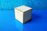 Laser cut - Gift Box with lid - 100mm square (Digital Download)