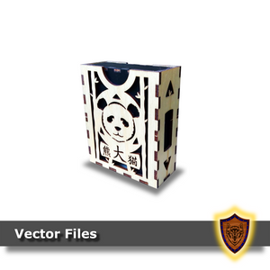 Panda Deck Box - Sleeved and Un-sleeved - Vector Files (Digital Download)