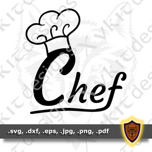 Chef - Customizable - Apron- T-shirt SVG design (Digital Download)