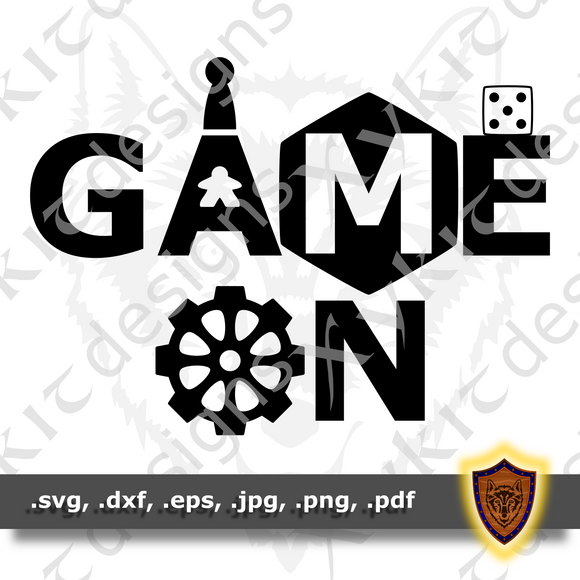 Game On - Tabletop - T-shirt SVG design (Digital Download)