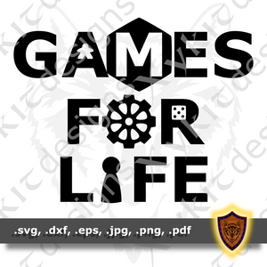 Games For Life - Board Game - T-shirt SVG design (Digital Download)