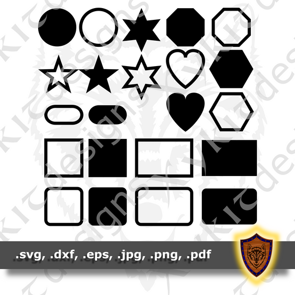 FREE Crafting Shapes - Silhouette - Engraving- T-shirt SVG design (Digital Download)