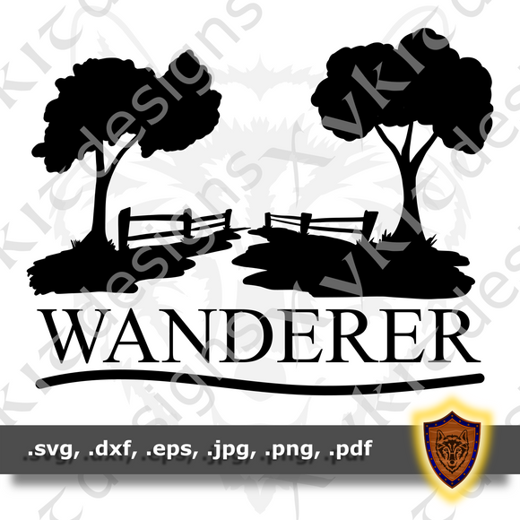 Wanderer - Silhouette - Scrapbook - T-shirt SVG design (Digital Download)