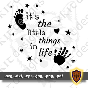 It's the Little Things in Life - Baby Pregnancy - T-shirt SVG design (Digital Download)