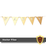 Spelling Party Flags - Alphabet Party Banner - (Digital Download)