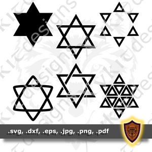 Star of David SVG - Christmas Star - Craft Files (Digital Download)