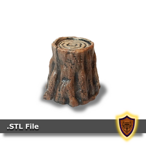 FREE - 3d Printable Tree Stump - Scatter Terrain (.stl file)