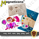 "Super Hero Craft - ""Captain Magneticon"" - Digital Download"