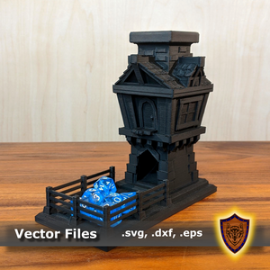 3D Fantasy Tavern Dice Tower - (.stl file)
