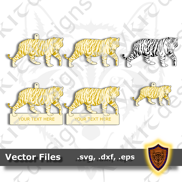Tiger SVG - Animal Ornament - Magnet - Key Chain - (SVG, DXF, EPS) Digital Download