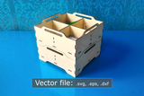 Laser Cut - Stack-able Trays - 3 Variants- Vector Files - (Digital Download)