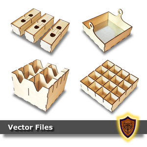 Fantasy Box Trays - Laser Files - (Digital Download)