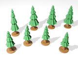 3D Printable Pine Trees - (support-less) Scatter Terrain (.stl file)