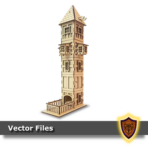 The Tudor Dice Tower - (Laser Files Download)