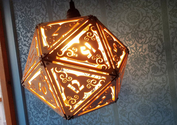 DnD D20 Dice Lamp- Giant 12