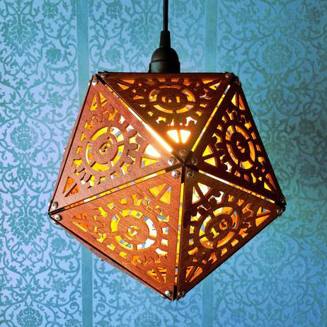 Steampunk D20 Dice Lamp- Giant 12
