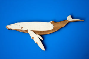 Wooden Blue Whale Magnet