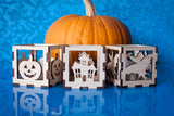Laser Cut - Fall Halloween Luminaries - 3 designs - (Digital Download)