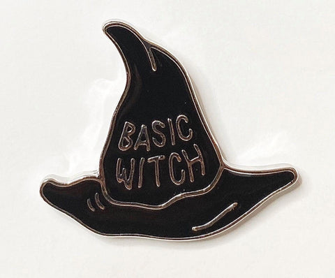 Basic witch metal enamel pin