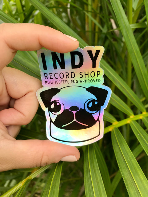 Indy Holographic Sticker