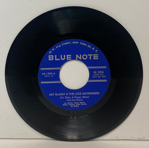 Art Blakey and The Jazz Messengers- It's only a paper moon 7""