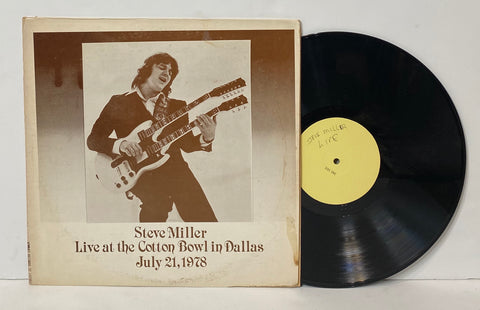 Steve Miller- Live at the Cotton Bowl in Dallas July 21, 1978 LP Rare unofficial