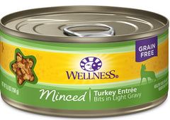Wellness Grain Free Natural Minced Turkey Entree Wet Canned Cat Food