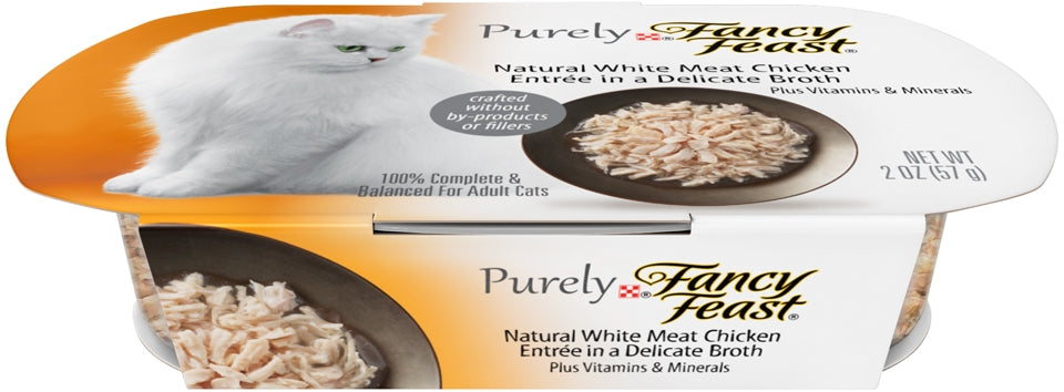 Fancy Feast Purely Natural  White Meat Chicken Entree Cat Food Tray