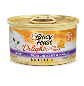 Fancy Feast Delights Grilled Turkey and Cheese Canned Cat Food