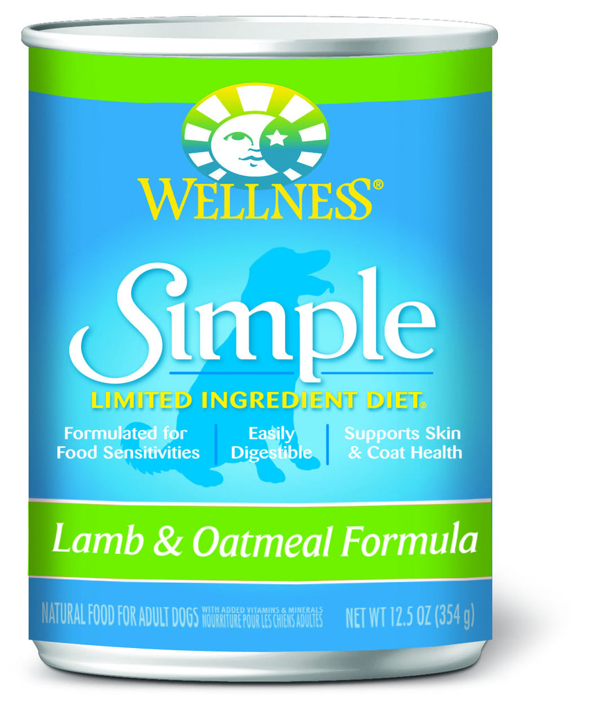 Wellness Simple Natural Limited Ingredient Diet Lamb and Oatmeal Recipe Wet Canned Dog Food