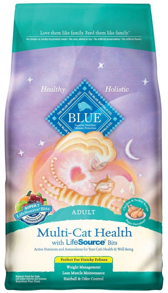 Blue Buffalo Multi Cat Health Chicken and Turkey Recipe Adult Dry Cat Food