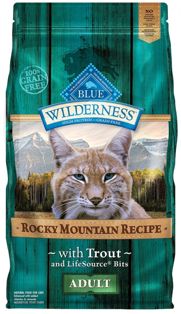 Blue Buffalo Wilderness Rocky Mountain Recipe Adult Grain Free Trout Dry Cat Food