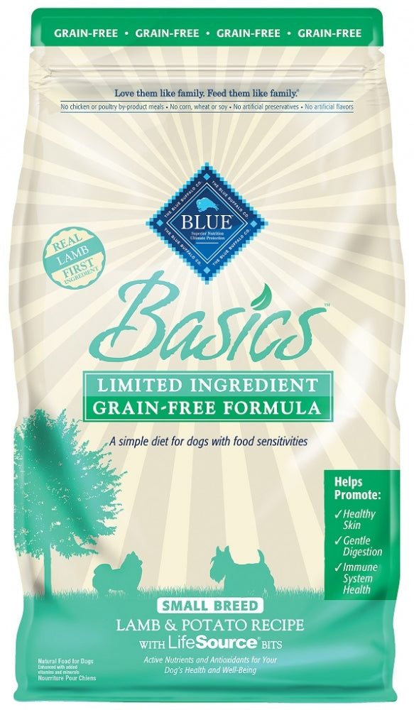 Blue Buffalo BLUE Basics Grain Free Small Breed Adult Lamb and Potato Recipe Dry Dog Food