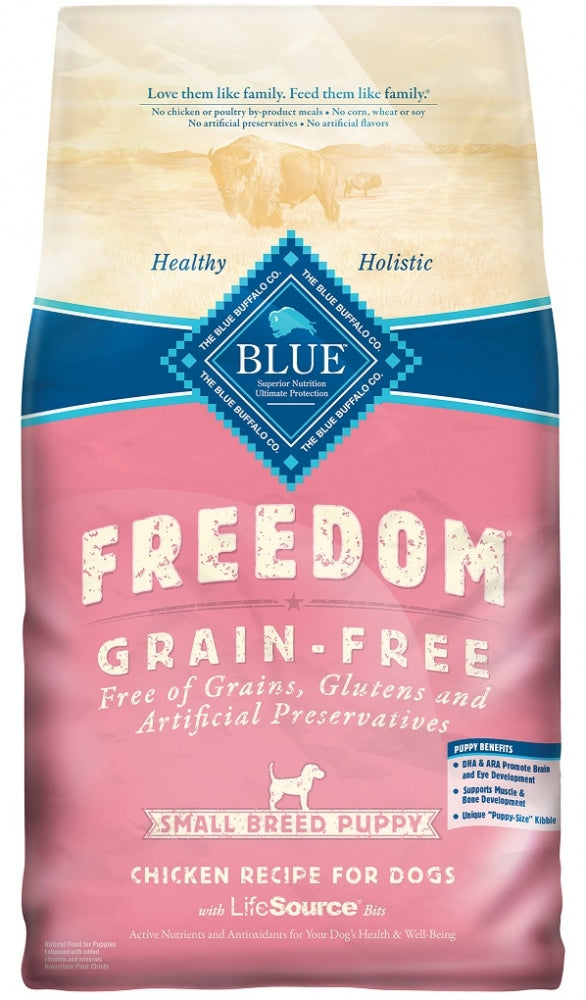 Blue Buffalo Freedom Small Breed Puppy Chicken Recipe Dry Dog Food