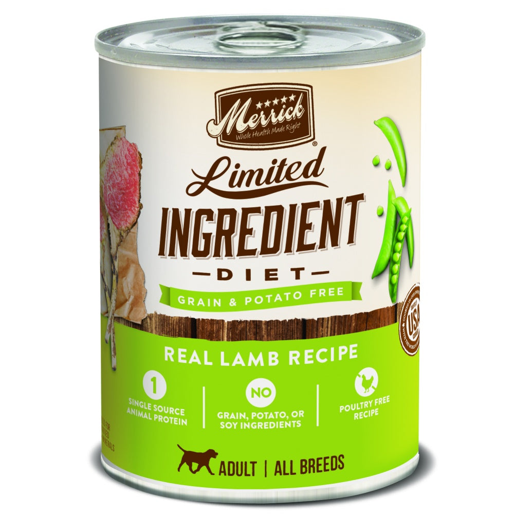 Merrick Limited Ingredient Diet Real Lamb Recipe Canned Dog Food