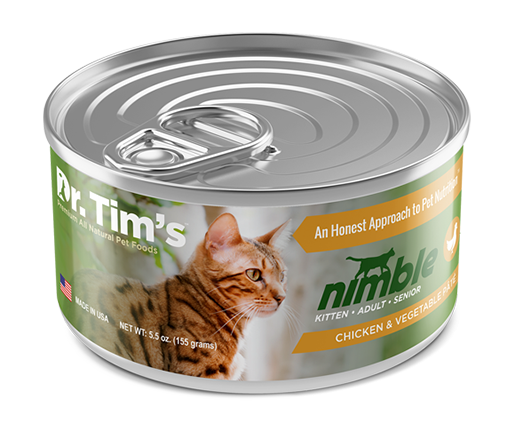 Dr. Tim's Nimble Chicken and Vegetable Pate Canned Cat Food