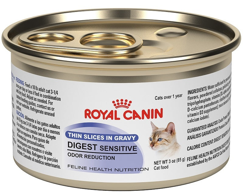 Royal Canin Feline Nutrition Digestive Sensitive Thin Slices in Gravy Canned Cat Food