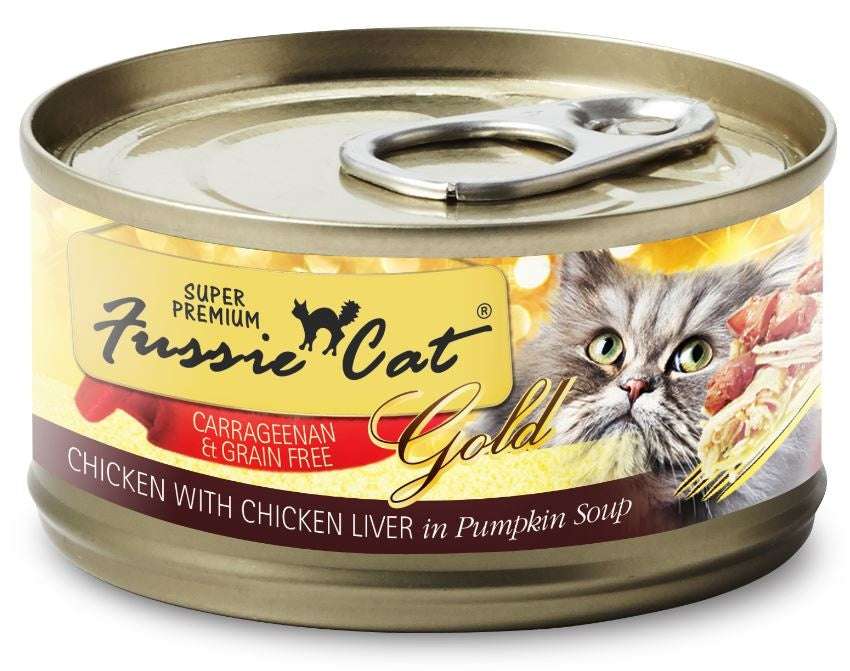 Fussie Cat Super Premium Grain Free Chicken with Chicken Liver in Pumpkin Soup Canned Cat Food
