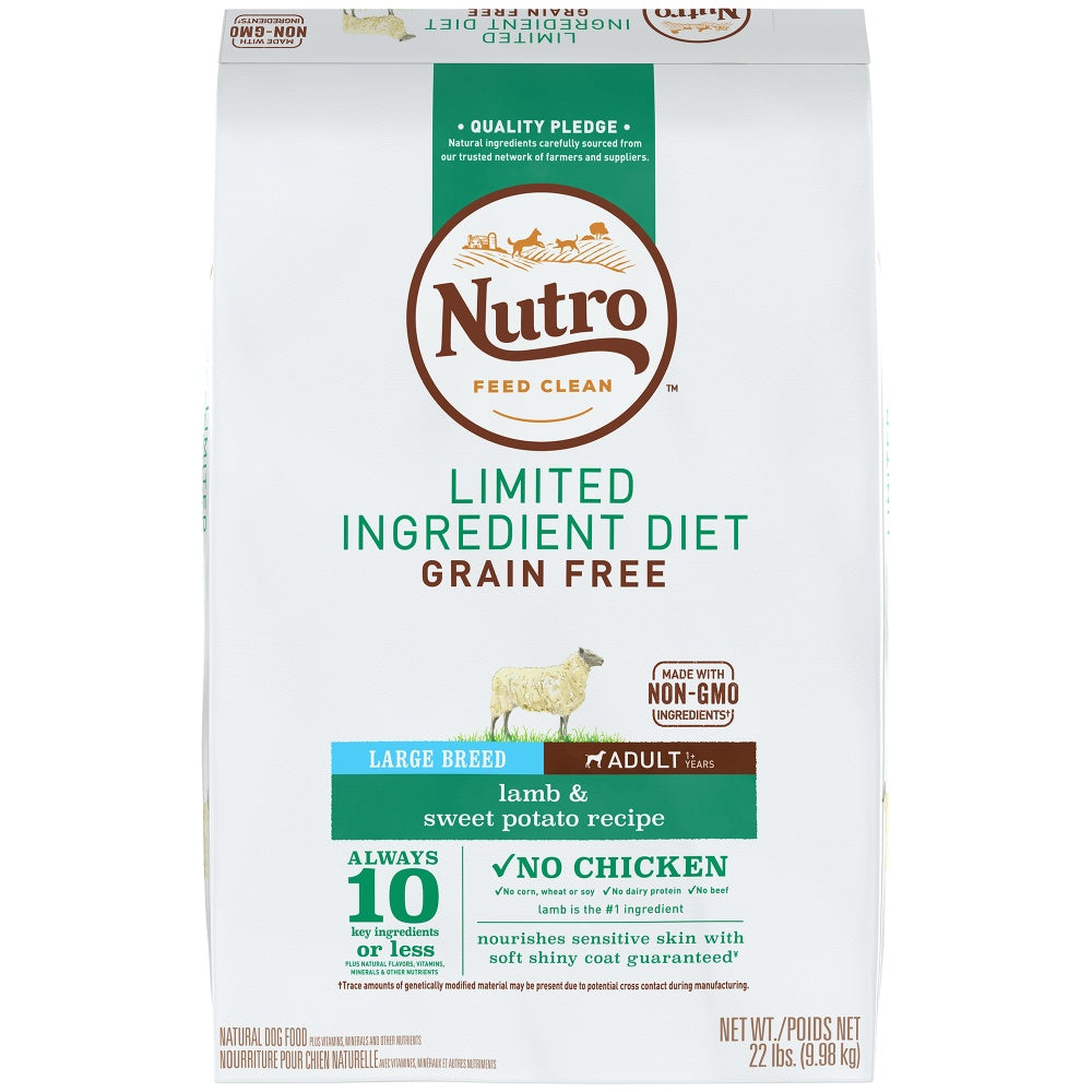 Nutro Limited Ingredient Diet Grain Free Large Breed Adult Lamb and Sweet Potato Dry Dog Food