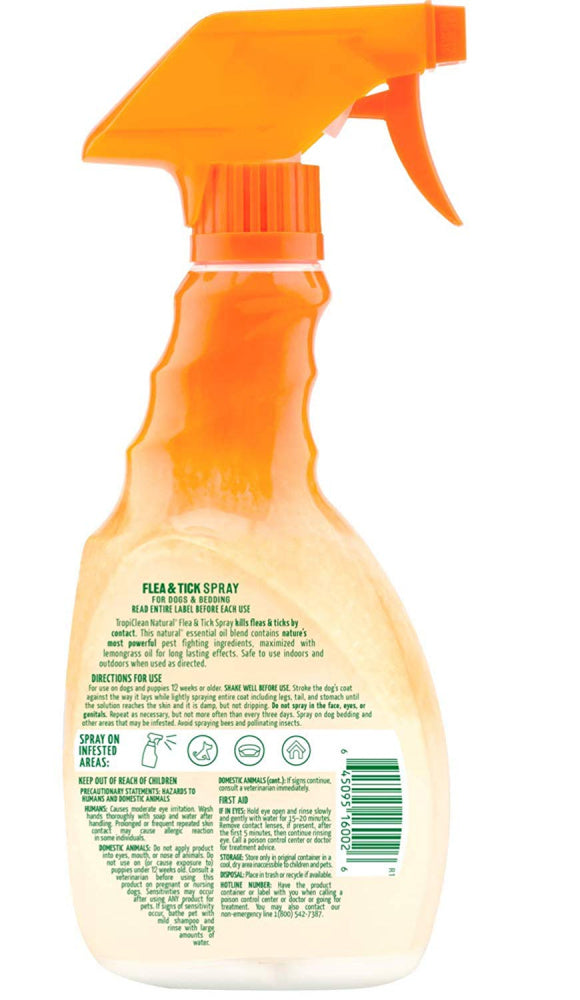 Tropiclean Natural Flea & Tick Pet Spray