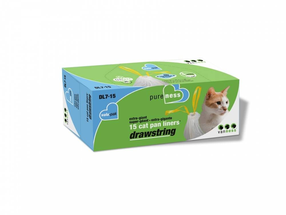 Van Ness Extra Giant Drawstring Cat Pan Liners