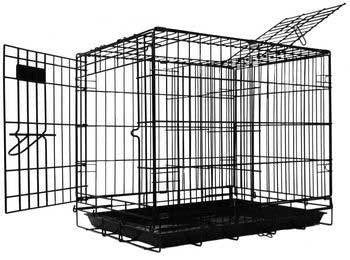 Dream Crate Pro Black Two Door 24x18x20 Dog Crate