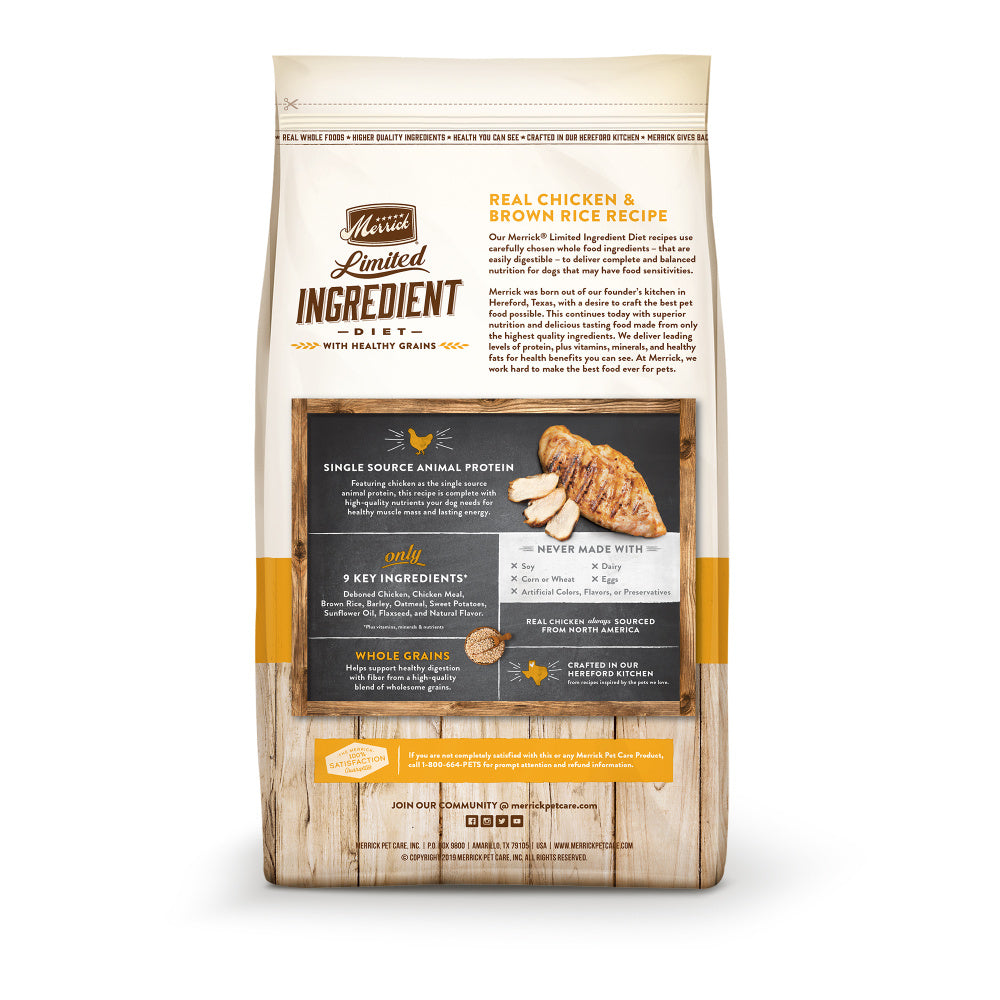 Merrick Limited Ingredient Diet Real Chicken & Brown Rice Recipe Dry Dog Food