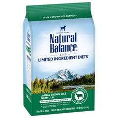 Natural Balance L.I.D. Limited Ingredient Diets Lamb & Brown Rice Formula Dry Dog Food