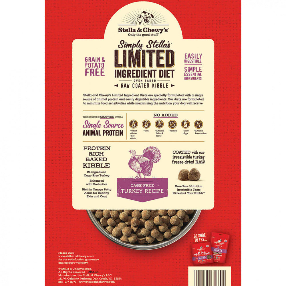 Stella & Chewy's Simply Stella's Limited Ingredient Diet Cage Free Turkey Recipe Dry Dog Food